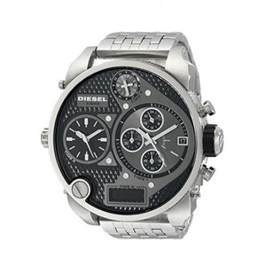 Diesel DZ7221 Mr. Daddy Gunmetal 4 Time Zones Stainless Steel Gray Men's Watch