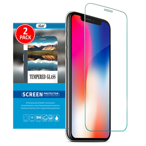 Roht Glass Screen Protector for iPhone X and XS (2 Pack)