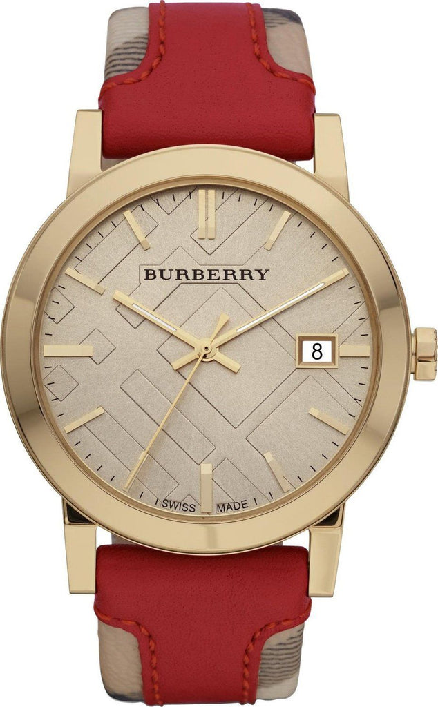 Burberry BU9017 Heritage Gold Swiss Made Leather Womens Watch