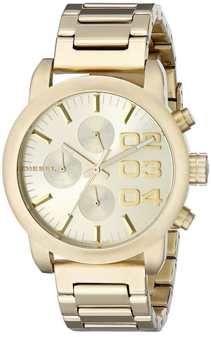 Diesel DZ5435 Flare Gold Oversized Chronograph Womens Watch