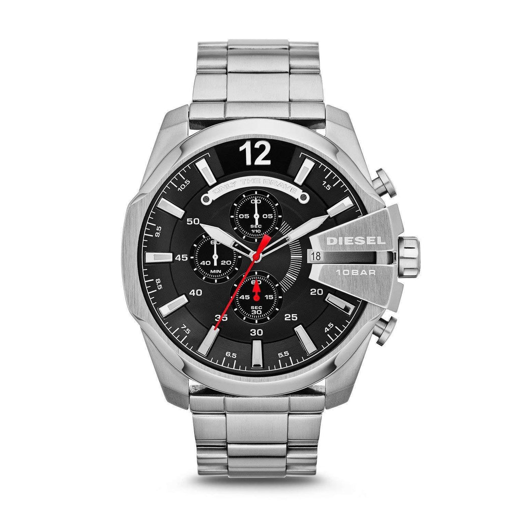 Diesel DZ4308 Mega Chief Silver Chronograph Mens Watch