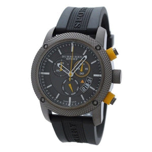 Burberry BU7713 Chronograph Endurance Grey Rubber Strap Sport Men's Watch