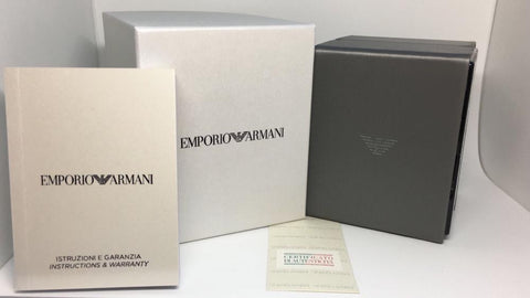 Emporio Armani AR5919 Sport White and Rose Gold Chronograph Mens Watch