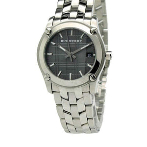 Burberry BU1851 Check Small Black Dial Swiss Made Womens Watch