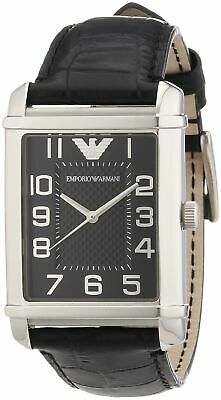 Emporio Armani Men's AR0363 Classic Black Dial and Strap Watch