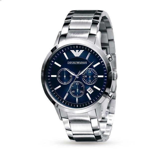 Emporio Armani AR2448 Classic Blue Face Wrist Watch for Men