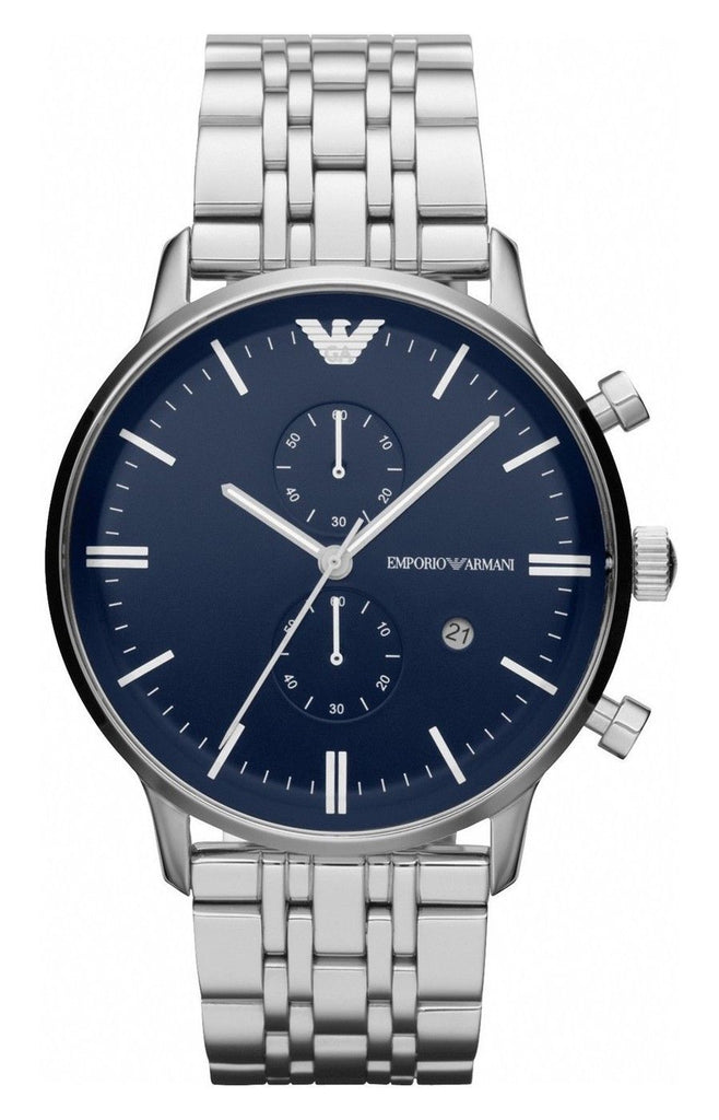 Emporio Armani AR1648 Classic Dual Time Zone Mens Watch