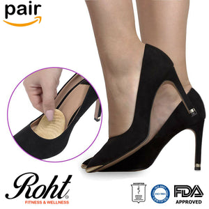 Roht Ball of Foot Metatarsal Cushion Pads High Heel Inserts - 2 Pairs