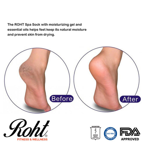 Roht Moisturizing Soft Gel Spa Socks to Repair and Prevent Dry Feet