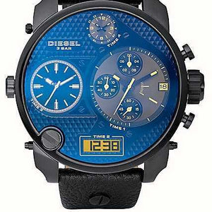 Diesel DZ7127 SBA Blue Black Black Leather Men's Watch
