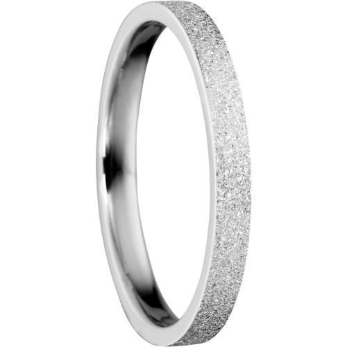 Bering 557-19-X1 Sparkling Silver Tone Arctic Symphony Collection Ring Size 7