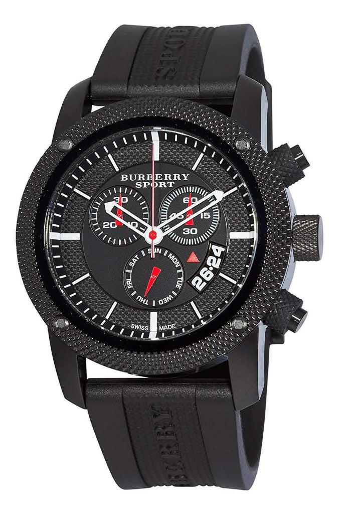 Burberry BU7701 Sport Black Swiss Made Rubber Mens Watch