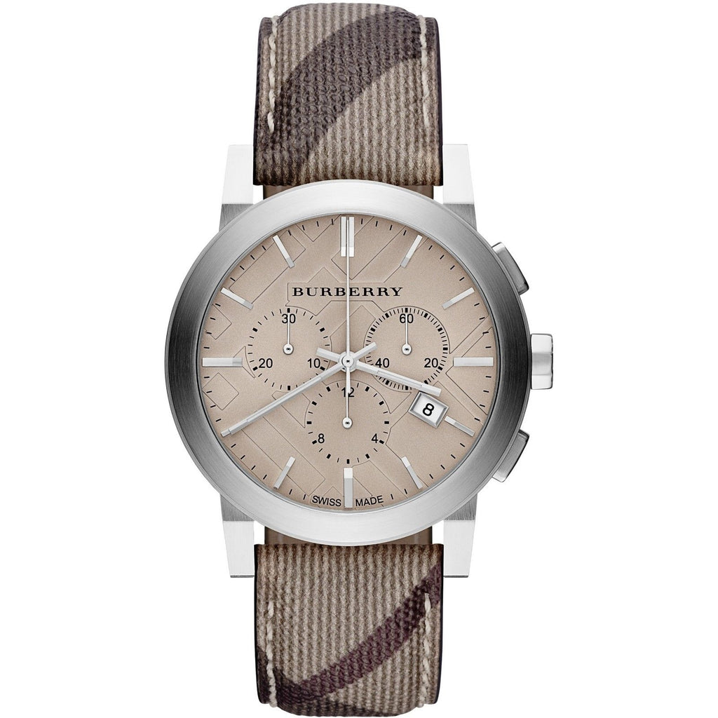 Burberry BU9361 The City Smoked Trench Swiss Made Mens Watch