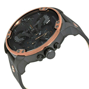 Diesel DZ7400 Mr. Daddy Copper & Black Leather Men's Watch
