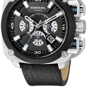 Diesel Bamf DZ7345 Stainless Steel Black Leather Men's Watch