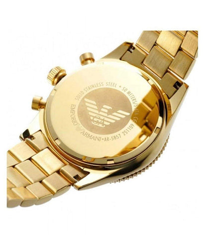 Emporio Armani AR5857 Gold Chronograph Mens Watch