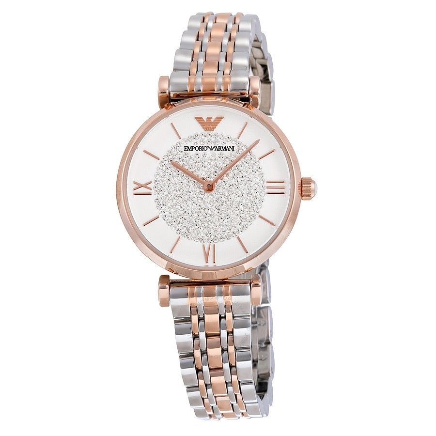 Emporio Armani  Women's Retro Two-Tone Stainless Steel Quartz Watch AR1926