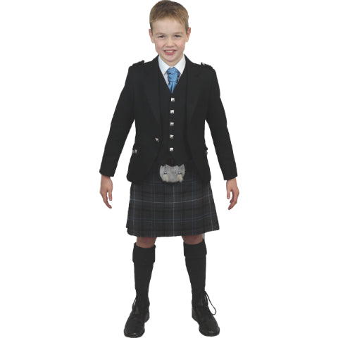 Boys Black Argyll Hire Outfit