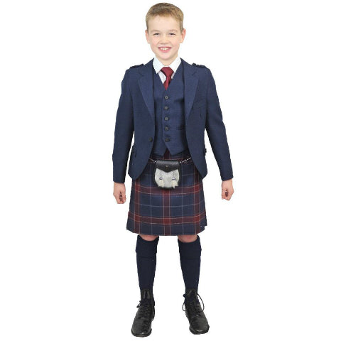 Boys Navy Tweed Outfit