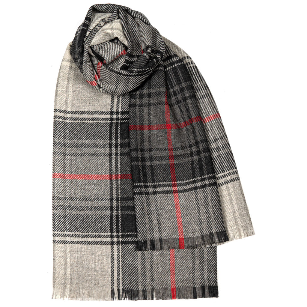 Lochcarron Graphite Luxury Fine Wool Stole