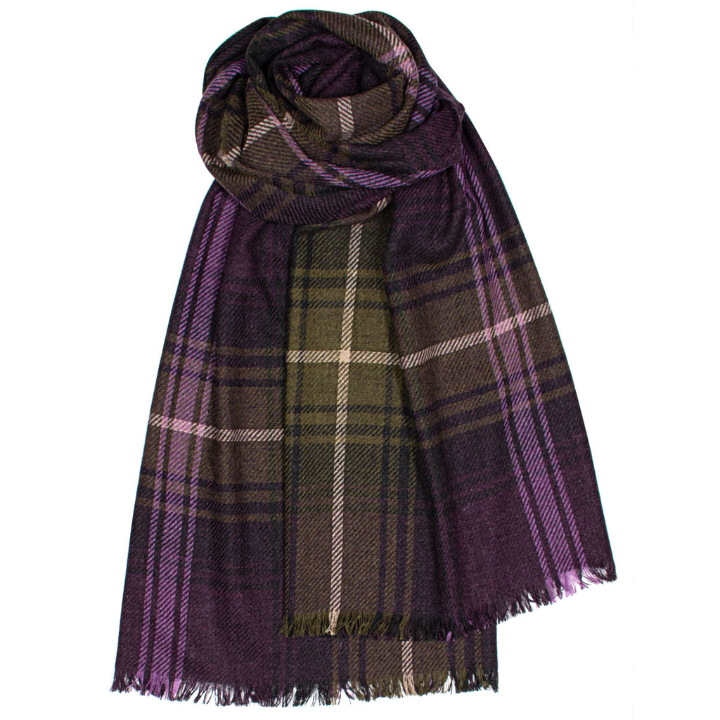 Lochcarron Heather Luxury Fine Wool Stole