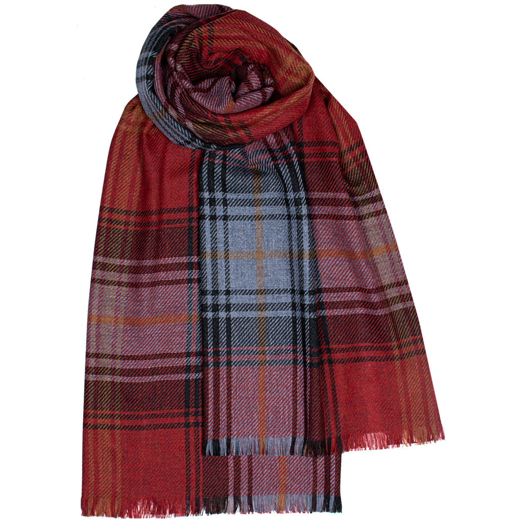 Lochcarron Ruby Luxury Fine Wool Stole