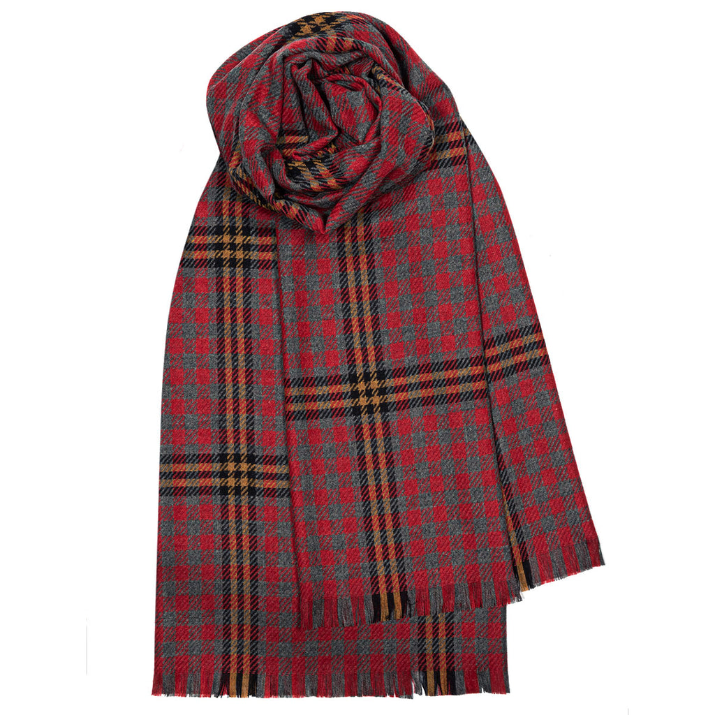 Red Rose Luxury Fine Wool Stole from Anderson Kilts Dumfries