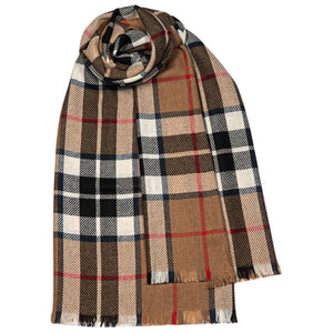Thomson Camel Modern Luxury Fine Wool Stole from Anderson Kilts Dumfries