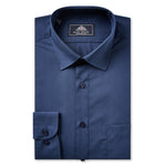 Mens Navy Standard Collar Shirt