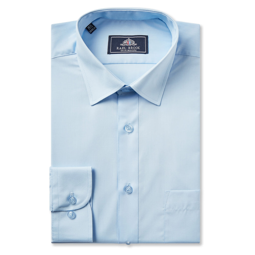 Boys Blue Standard Collar Shirt