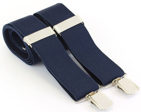 Navy Braces - Clip end