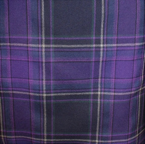 Galloway Heather tartan - exclusive to hire from Anderson Kilts. Available for men's and boys kilts