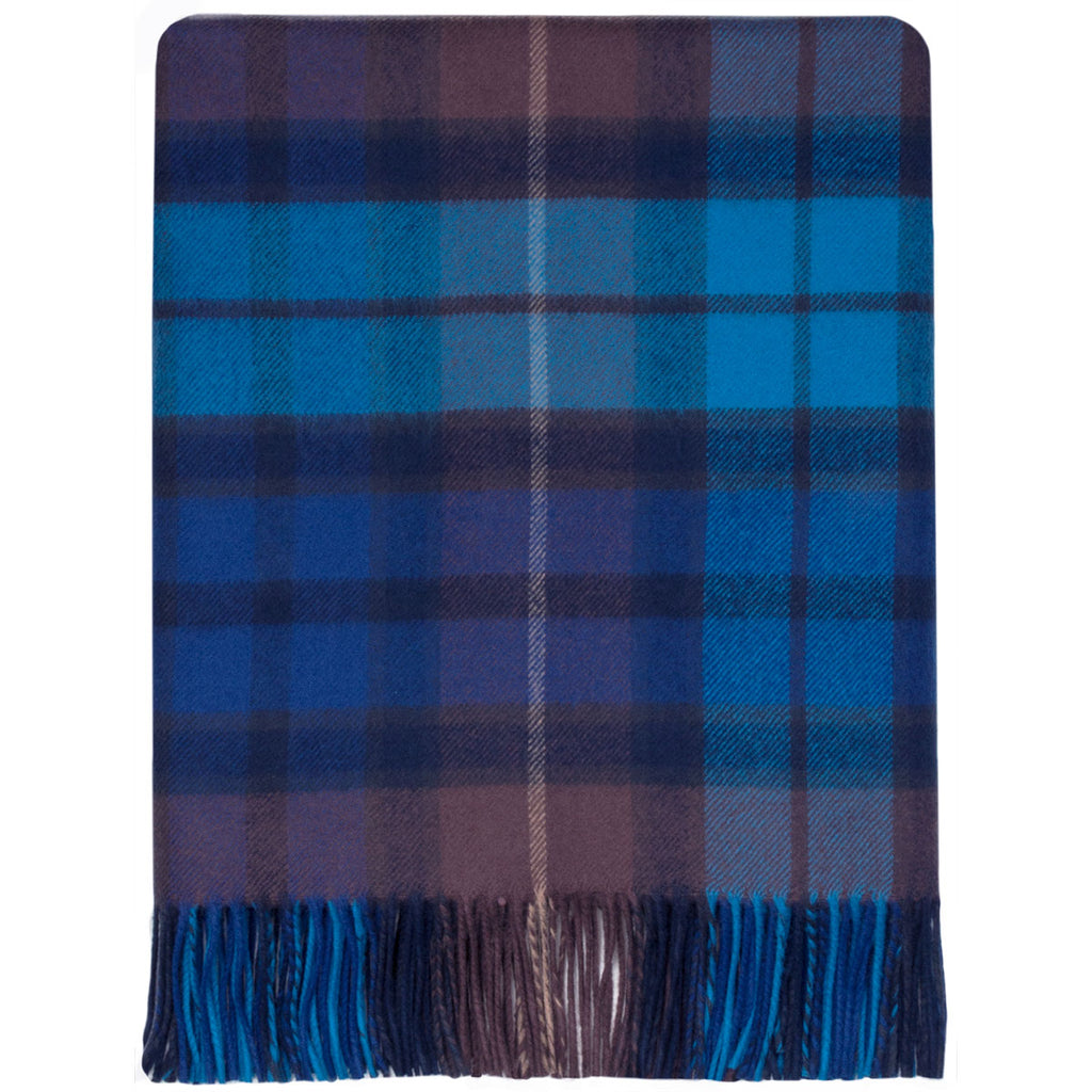 Buchanan blue tartan lambswool Blanket