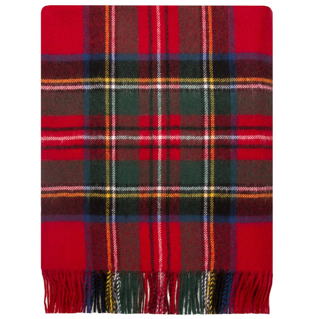 Royal Stewart tartan lambswool blanket