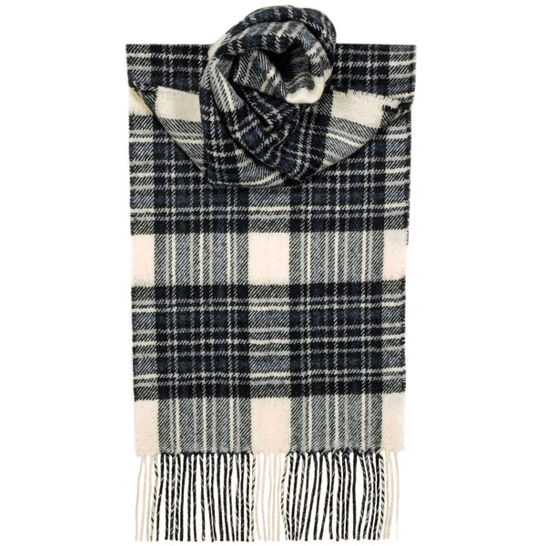 Stewart Dress Grey Tartan Scarf - Anderson Kilts