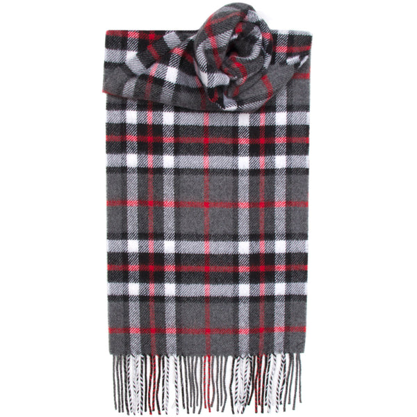Thompson Grey Tartan Scarf - Anderson Kilts