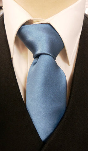 Airforce Blue Satin Tie