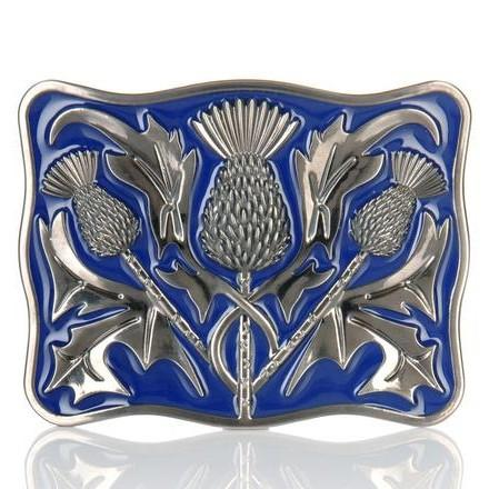 Antique Blue Thistle Buckle