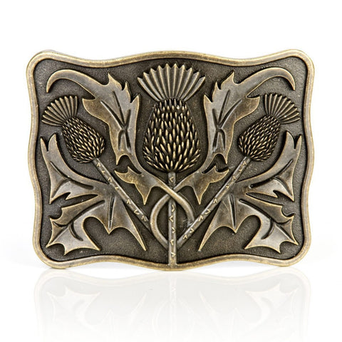 Antique Brass Thistle Buckle