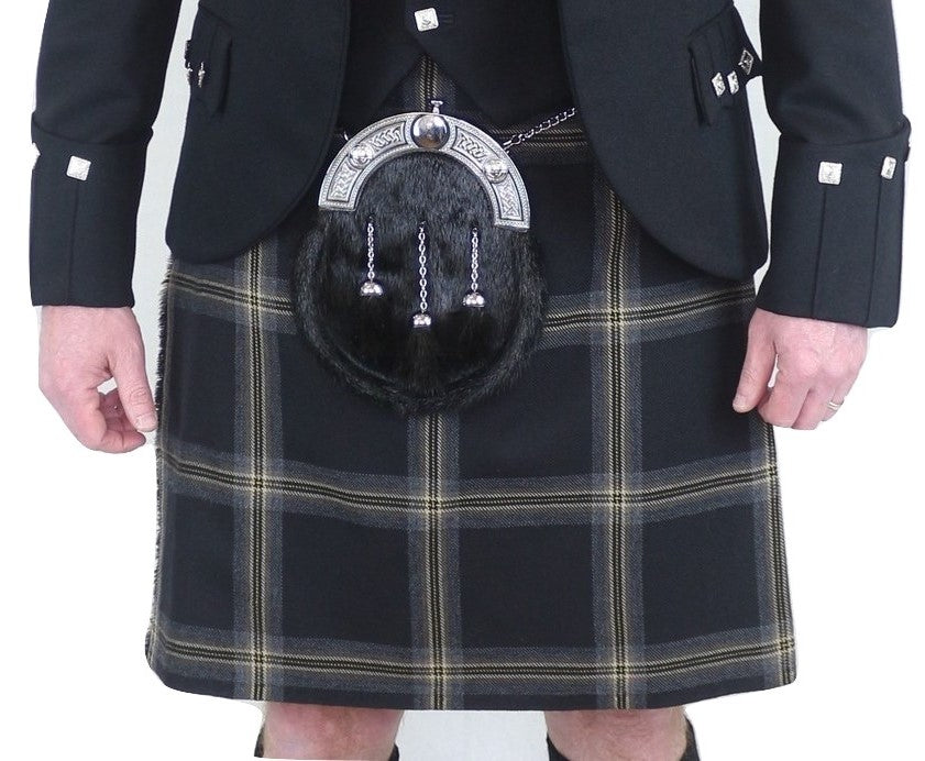 Mens Black Galloway kilts (ex-hire)