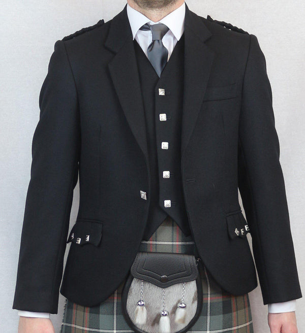 Ex-hire Black Argyll Jacket