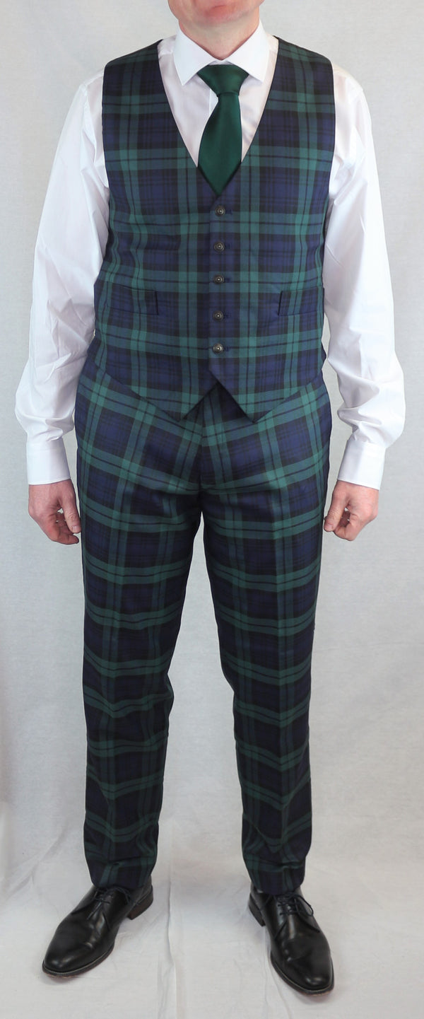 Matching Tartan Set - Waistcoat and Trews Black Watch - Anderson Kilts