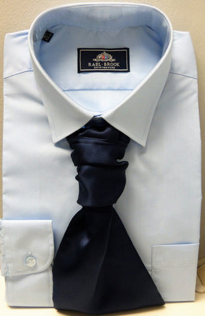 Mens Powder Blue Standard Collar Shirt - Anderson Kilts