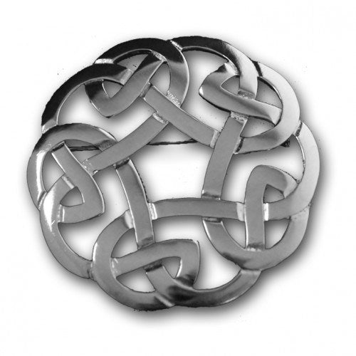 Celtic Interlace Plaid Brooch - 247
