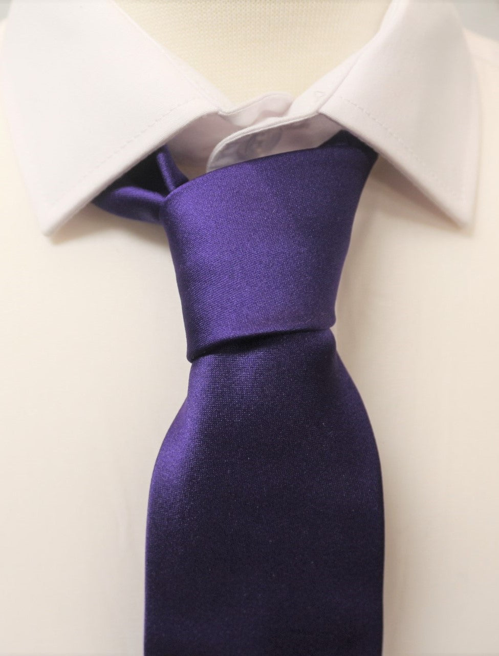 Purple Satin Tie - Anderson Kilts