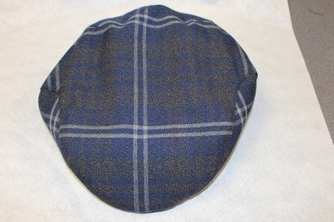 Grey Galloway tartan cap