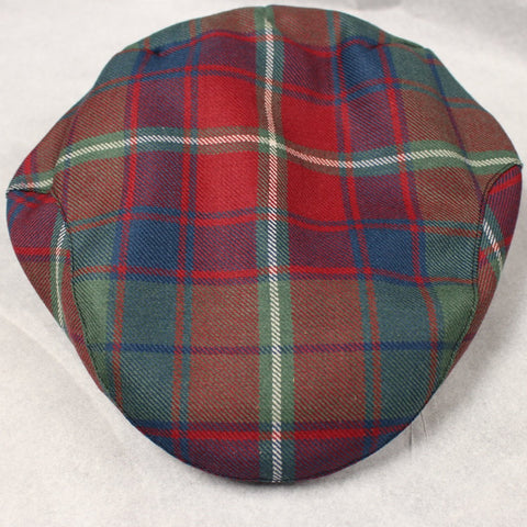 Muted Red Roxburgh Tartan cap