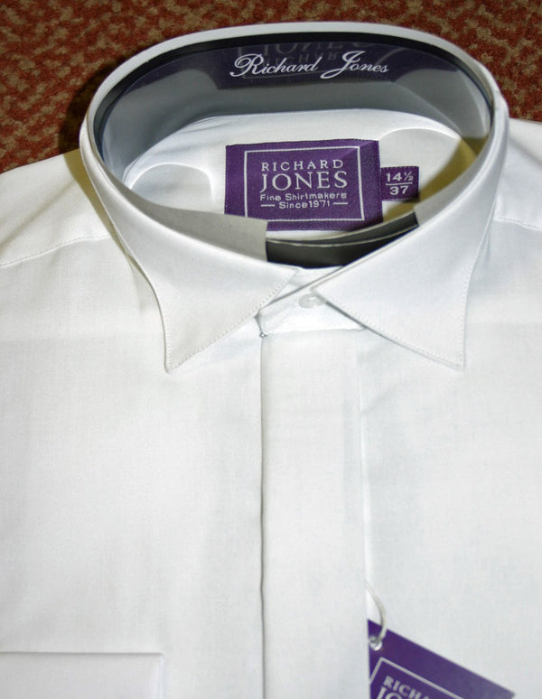 Spread Collar White Dress Shirt - Anderson Kilts