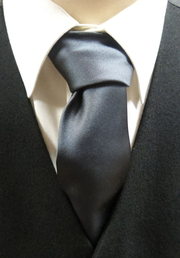 Charcoal Satin Tie - Anderson Kilts