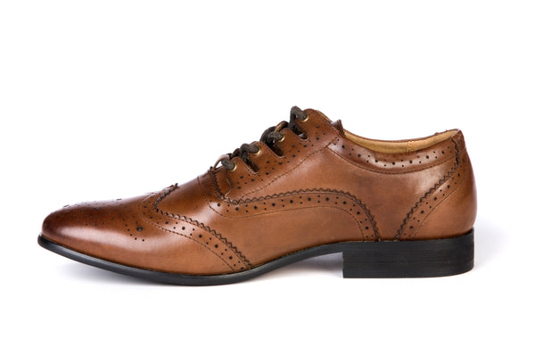 Norwood Brown Leather Day/Ghillie Brogue - Anderson Kilts